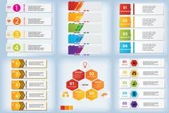 Satz saubere Zahlfahnen des modernen Designs mit dem Geschäftskonzept verwendet für Websiteplan oder Websitedesign Stockfotografie
