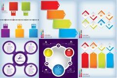 Satz saubere Zahlfahnen des modernen Designs mit dem Geschäftskonzept verwendet für Websiteplan oder Websitedesign Stockbilder