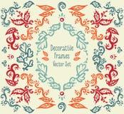 Satz schöne dekorative Rahmen stock abbildung