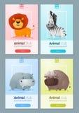 Satz Schablonen des wilden Tieres für Webdesign Lizenzfreies Stockfoto