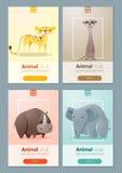Satz Schablonen des wilden Tieres für Webdesign Lizenzfreie Stockfotos