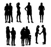 Satz Schattenbild-Leute. Vektor-Illustration. Lizenzfreie Stockfotografie