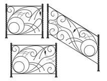 Satz Schattenbilder von Eisenzäunen Vektor Abbildung