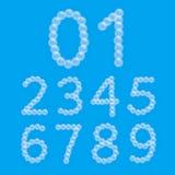 Satz Schaum-Blasen-Zahlen Stockfotografie