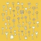 Satz Schlüsselvektors 40 Lizenzfreies Stockbild