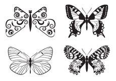 Satz Schmetterlinge Stockfoto