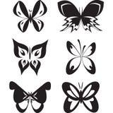 Satz Schmetterlinge tatoo Lizenzfreies Stockbild
