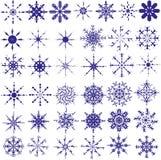 Satz Schneeflocken Stockbild