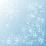 Satz Schneeflocken Stockfotos