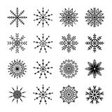 Satz Schneeflocken, Illustration vektor abbildung