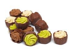 Satz Schokoladen Stockfotografie