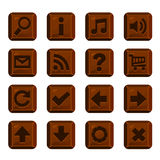 Satz Schokoladenknöpfe mit verschiedenen Formen Lizenzfreies Stockfoto