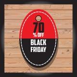Satz schwarzen Freitag-Verkaufs Schwarze Freitag-Fahne Kann im zusätzlichen Format geändert werden Lizenzfreies Stockfoto