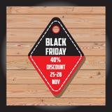 Satz schwarzen Freitag-Verkaufs Schwarze Freitag-Fahne Kann im zusätzlichen Format geändert werden platte Stockfotos