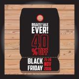 Satz schwarzen Freitag-Verkaufs Schwarze Freitag-Fahne Kann im zusätzlichen Format geändert werden platte Lizenzfreies Stockbild