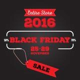 Satz schwarzen Freitag-Verkaufs Schwarze Freitag-Fahne Kann im zusätzlichen Format geändert werden platte Lizenzfreies Stockfoto