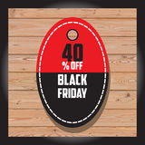 Satz schwarzen Freitag-Verkaufs Schwarze Freitag-Fahne Kann im zusätzlichen Format geändert werden platte Stockfoto