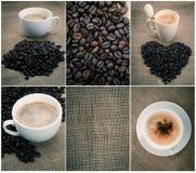 Satz schwarzer Kaffee Lizenzfreie Stockfotografie