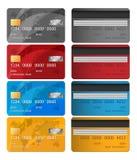 Satz Seiten der Vektor-Kreditkarte zwei Dieses ist Datei des Formats EPS10 Geschäftslösung Lizenzfreie Stockfotografie