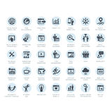 Satz SEO-Firmenservice- und Internet-Marketing-Ikonen Lizenzfreies Stockfoto