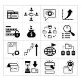 Satz SEO-, Netz- und Internet-Ikonen stock abbildung