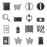 Satz Service-Ikonen im Speicher Lokalisierter Vektor Stockfotos