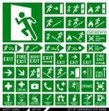 Satz Sicherheitszeichen Beenden Sie Zeichen stock abbildung