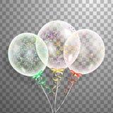Satz Silber, Blau, grüner Heliumballon in der Luft Bereifte Parteiballone für Ereignisdesign Parteidekorationen für bir Stockbilder