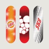 Satz Skateboarddesigne Stockbilder
