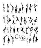 Satz Skizzenlinie ep Gekritzel der Baumillustration der Hand gezeichneten Stockfotografie