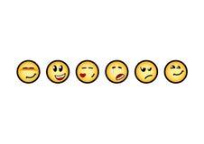 Satz smiley Lizenzfreie Stockbilder