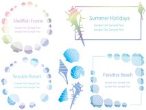 Satz sortierte Mosaikmitteilungsrahmen, Vektorillustration lizenzfreies stockbild