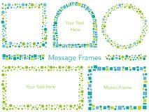 Satz sortierte Mosaikmitteilungsrahmen, Vektorillustration lizenzfreie stockbilder