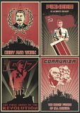 Satz sowjetischer Propaganda-Poster lizenzfreie abbildung
