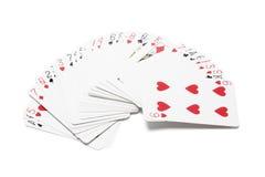 Satz Spielkarten Stockfotografie
