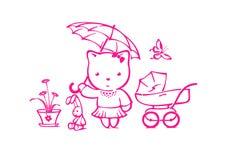 Satz Spielwaren für Mädchen Lizenzfreie Stockbilder