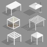 Satz Strandpavillons vektor abbildung