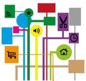 Satz Symbole für das Netz Lizenzfreie Stockfotografie