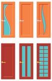 Satz Türen für Räume Stockfoto
