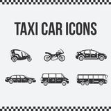 Satz Taxiikonen für Website, Darstellungen Stockbild