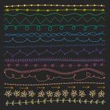 Satz Teiler und Grenzen Von Hand gezeichnet Elemente vektor abbildung
