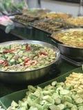 Satz Thailand-Straße food lizenzfreie stockfotos