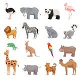 Satz Tiere des Zoos Lizenzfreies Stockfoto