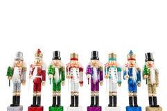 Satz traditionelle Figürchenweihnachtsnussknacker lizenzfreies stockfoto