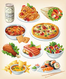 Satz traditionelle Nahrung vektor abbildung
