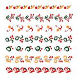 Satz traditionelle Stickerei Vektorillustration von ethnischen nahtlosen dekorativen Mustern Traditionelle russische Rahmen lizenzfreie abbildung