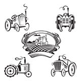 Satz Traktoren Stockbild