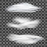 Satz transparente verschiedene Wolken Auch im corel abgehobenen Betrag Lizenzfreie Stockfotografie
