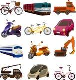 Satz Transportikonen Stockfoto
