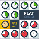 Satz Uhren mit einem 10-Minute-Abstand lizenzfreie abbildung